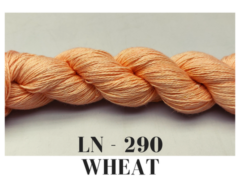 Linen Sportweight 2 Ply Yarn- Wheat - silkrouteindia