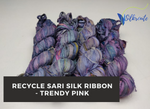 Recycle Sari Silk Ribbon - Trendy Pink - silkrouteindia
