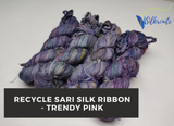 Recycle Sari Silk Ribbon - Trendy Pink