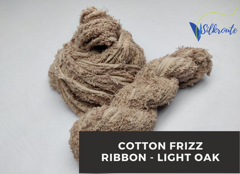Cotton Frizz Ribbon - Light Oak - silkrouteindia
