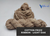 Cotton Frizz Ribbon - Light Oak