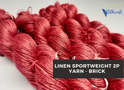 Linen Sportweight 2 PLY Yarn - Brick