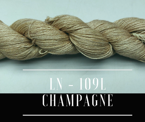 Linen Sportweight 2 Ply Yarn- CHAMPAGNE - silkrouteindia