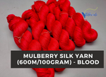 Mulberry Yarn - 600M/100Gr. - Blood - silkrouteindia