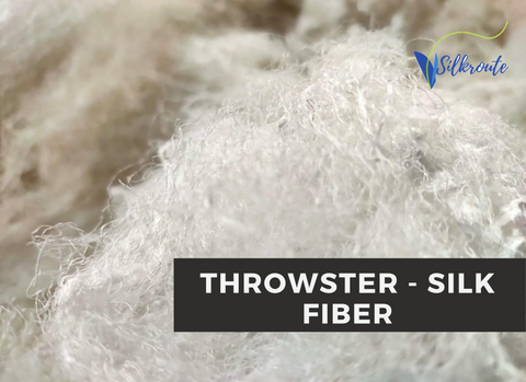Throwster Yarn Fiber - Natural/Undyed - silkrouteindia