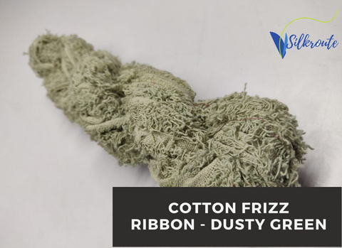 Cotton Frizz Ribbon - Dusty Green