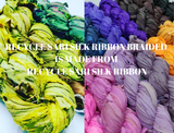 Recycle Sari Silk Ribbon Braided - MultiColor - silk_routeindia