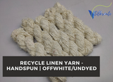 Recycle Linen Yarn - Off White - silkrouteindia