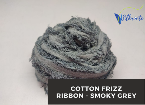 Cotton Frizz Ribbon - Smoky Grey