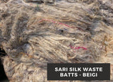 Sari Silk Waste Batts - Beigi