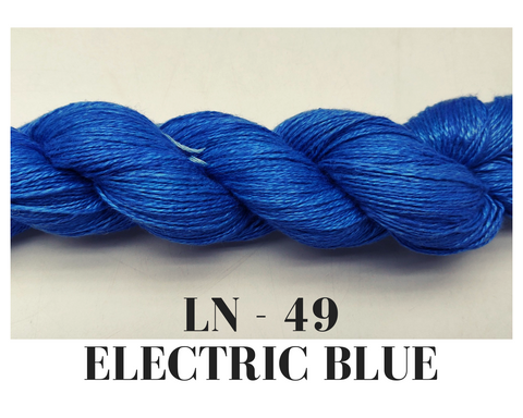 Linen Yarn - Electric Blue - silk_routeindia