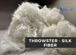 Throwster Silk Fiber - Natural/Undyed