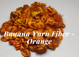 Banana Yarn Fiber - Orange