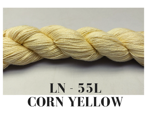 Linen Yarn - Corn Yellow - silk_routeindia