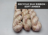 Recycle Sari Silk Ribbon - Soft Amber