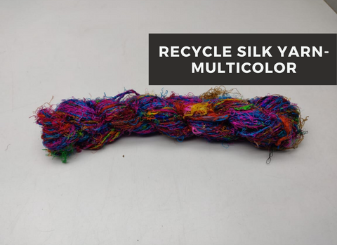 Recycled Sari Silk Yarn-Multicolor, Recycle Sari Silk, Recycled Sari Silk, Sari Silk, Silk Yarn, Recycled Silk Yarn | Silk Route India