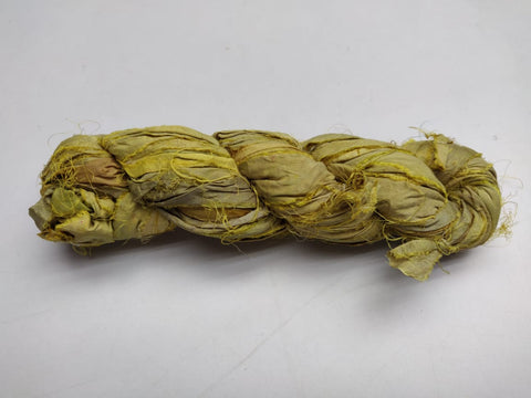 Recycle Sari Silk Ribbon - Pickle - silk_routeindia