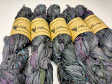 Recycle Sari Silk Ribbon -  Smoke (S35-L) - silkrouteindia