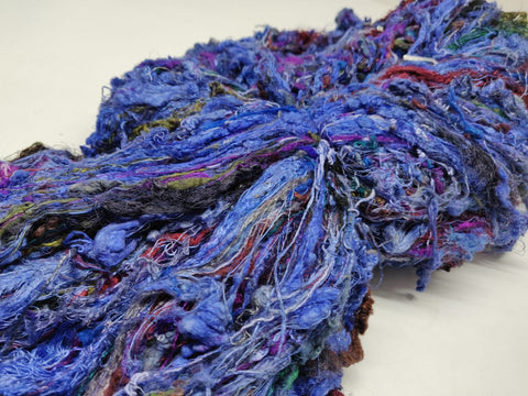 Sari Silk Waste Batts - Purple