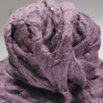 Recycle Silk Fibers Sliver - LAVENDER - silk_routeindia
