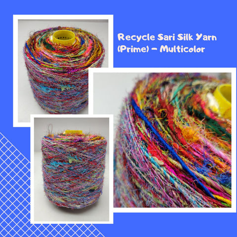 Recycled Sari Silk Yarn (Prime*) - Multicolor - silk_routeindia