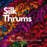 Colorful Silk Thrums, Thrums, Recycle Thrums, Sari Thrums, Silk Thrums, Recycle Sari Silk Yarn, Recycled Sari Silk Yarn | Silk Route India