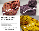 Recycle Silk Fibers Sliver - [100Gr. x8] - silk_routeindia