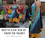 Recycle Indian Sari Skirt | Pack of 5 - silkrouteindia