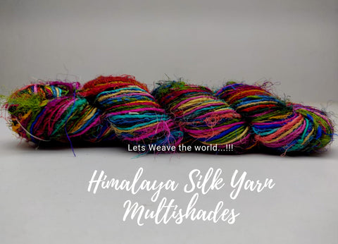 Himalaya Silk Yarn - MultiColor - silk_routeindia