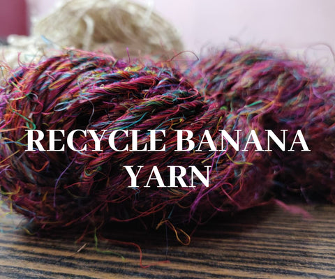 Recycle Banana Yarn- Multicolor, Recycle Yarn, Banana Yarn, Banana Silk Yarn| SILKROUTEINDIA