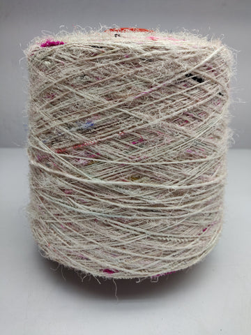 Recycled Sari Silk Yarn (Prime*) - WHITE PATCHES, Silk Yarn, Sari Silk Yarn, Recycle Sari Silk, Himalaya Silk Yarn, Recycle Silk, Recycled Silk Yarn | Silk Route India
