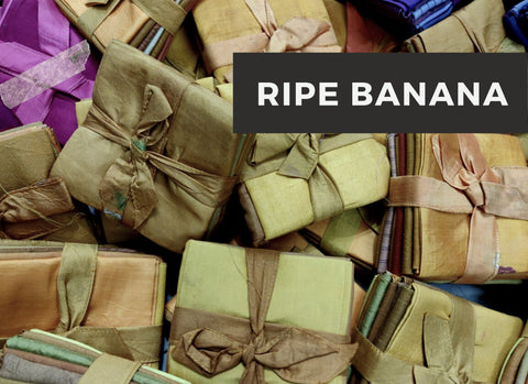 "Quilt Fabric-Ripe Banana-[18""x22""] - silk_routeindia"