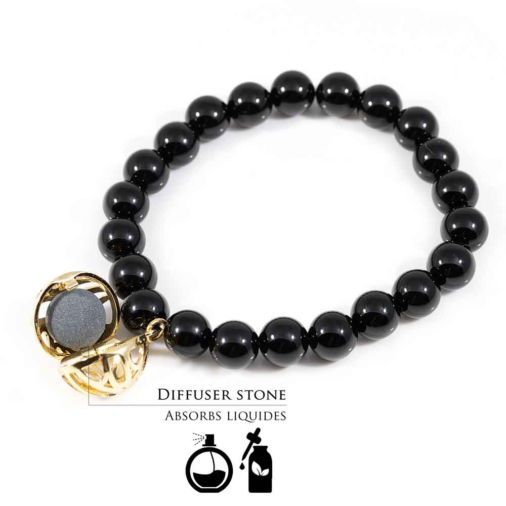 how to use fragrance diffuser bracelet black onyx stone