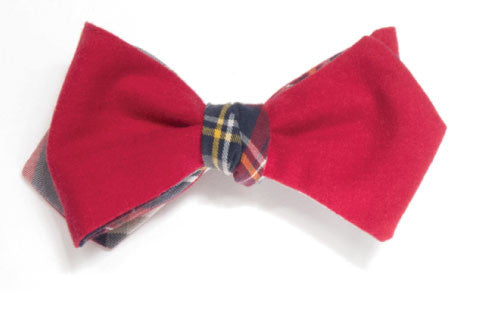 Infinite Hall Pass - Reversible red bow tie