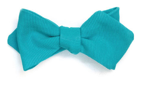 Laguna Cliffs - Turquoise bow tie in ribbed silk