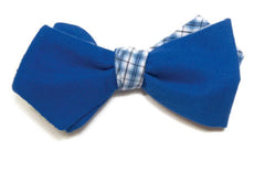 Mrs. Robinson - Reversible blue bow tie