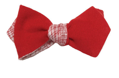 No way Rosé - Linen bow tie in red