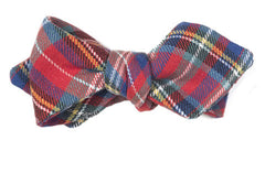 Plaid Tidings - Bright holiday tartan bow tie in wool