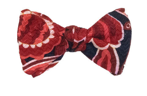 Punch Drunk - silk bow tie
