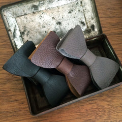 Leather ties in an array of colors