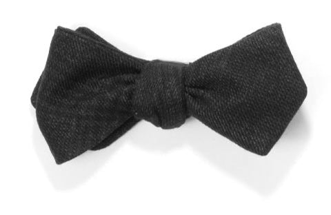 Dark and Stormy - Charcoal grey wool bow tie