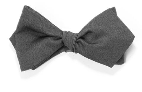 Gun for Hire - Grey cotton bow tie
