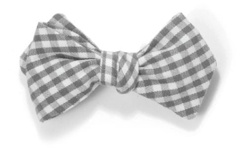 Still in Kansas - Grey gingham bow tie