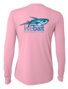 Women's Flying Fish Long Sleeve - LiveBait.com