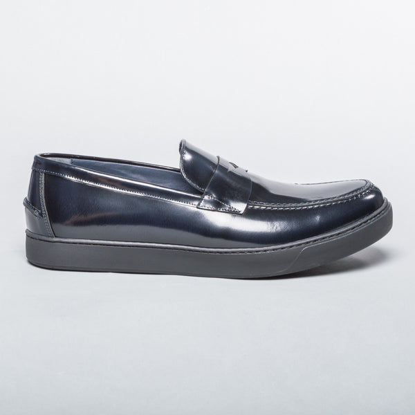 Patent Leather Loafer - Navy