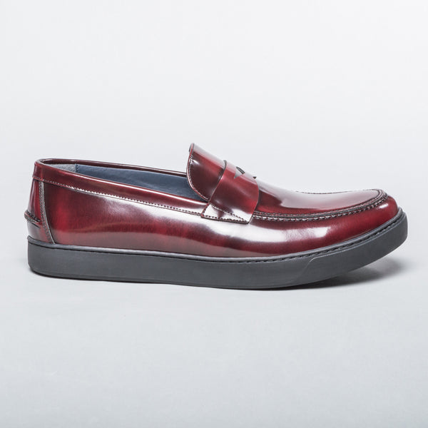 Patent Leather Loafer - Burgundy