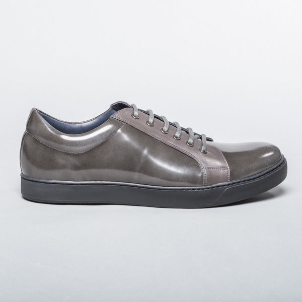 Patent Leather Sneaker - Light Grey
