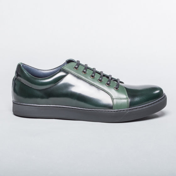 Patent Leather Sneaker - Emerald Green
