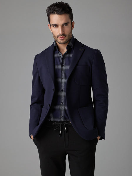 Parker Cotton Blazer - Navy Blue