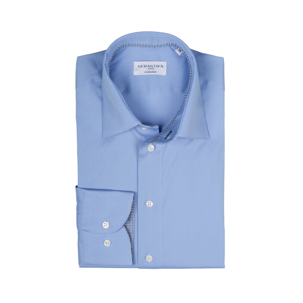 Gary Performance Stretch Shirt - Sky Blue